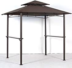OPEN BOX 639 x 539 BBQ Grill Gazebo Replacement Canopy - RipLock