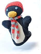 ChunkiChilli Organic Cotton Penguin Puppet Toy