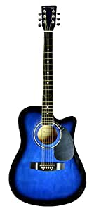 huntington ga415c dreadnought cutaway acoustic electric guitar blue musical. Black Bedroom Furniture Sets. Home Design Ideas