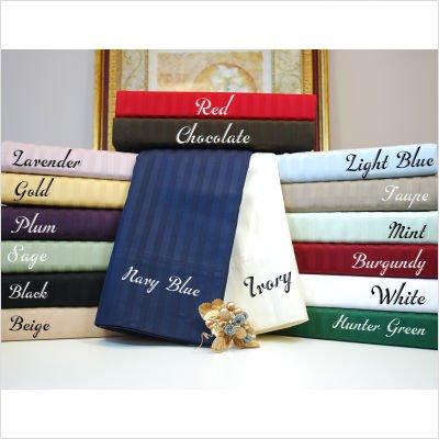 Luxor Treasures Stripes Pillowcase (Set of 2) Size: King, Color: Hunter Green