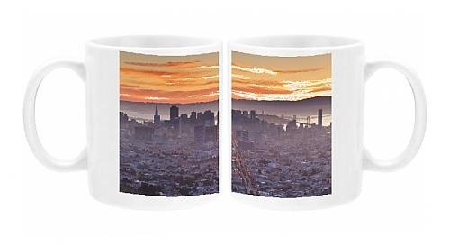 Photo Mug Of City Skyline Viewed From Twin Peaks, San Francisco, California, United States