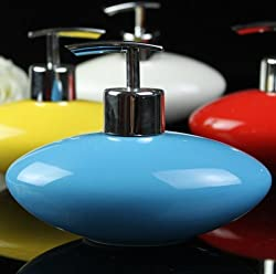 1 Pc High Grade Ceramic Liquid Soap Dispenser. Elegant and Beautiful Refillable Liquid Soap Dispenser,Avoid wastages by dispensing liquid soap in an appropriate quantity. Used for domestic and commercial purposes.
