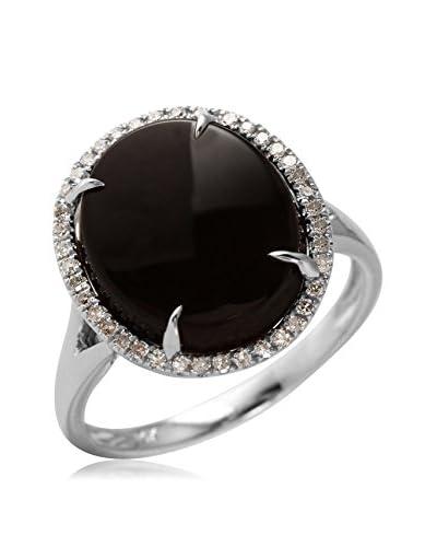 Fashion Strada 14K White Gold Onyx & Diamond Cocktail Ring