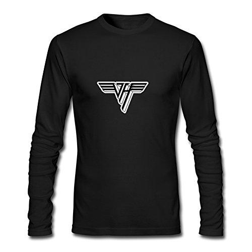 Fashion Van Halen long sleeve Tops T shirts -  Maglia a manica lunga  - Uomo Black Medium