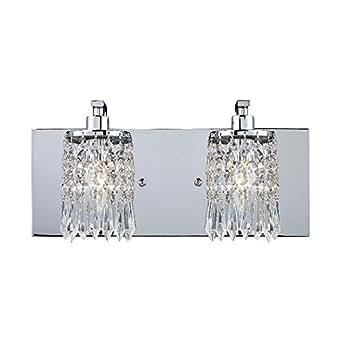 Elk Lighting 11229 2 Optix 2 Light Crystal Bathroom Vanity Lighting Fixture