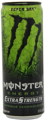 Monster Energy Extra Strength Drink, Super Dry, 12 Ounce (Pack of 12)