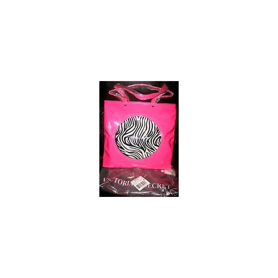 VICTORIAS SECRET HUGE HOT PINK ZEBRA TOTE NEW Beauty