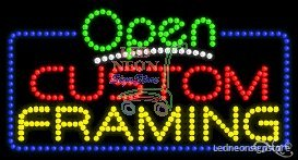 Custom Framing Led Sign 17 Inch Tall X 32 Inch Wide X 3.5 Inch Deep Outdoor O...