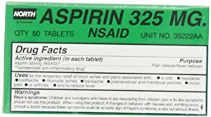 North by Honeywell 35222AA Aspirin 325 mg, 50 per unit **