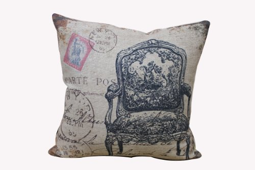"Touch Home Decorative Cotton Linen Square Pillowcase Throw Pillow Cushion Cover European Style Chair 18"" X 18"" front-993861"