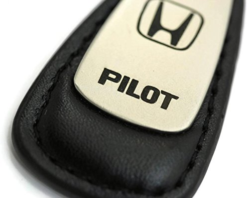 Honda Pilot Leather Key Chain Black Tear Drop Key Ring Fob Lanyard (Honda Leather Key Fob compare prices)