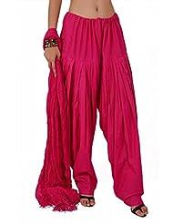 Stylenmart Rani Women Plain Semi Patiala Bottom Dupatta