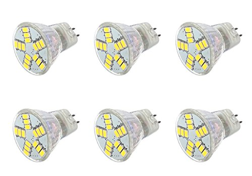 12Vmonster ® Pack Of 6 - Led 5W Mr11 Gu4 Accent Spot Light Bulb Spot Down Light Lamp Ac Dc 12 Volt Halogen Replacement 5730 Led X 15 Cluster