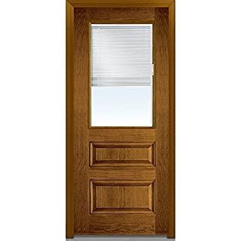 National Door Company Efo631bl30rdwl Entry Door Rehung Right Hand Internal Mini Blinds Clear