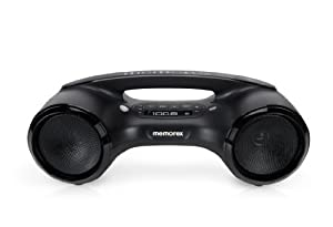 Memorex Bluetooth Boombox with FM radio, Black