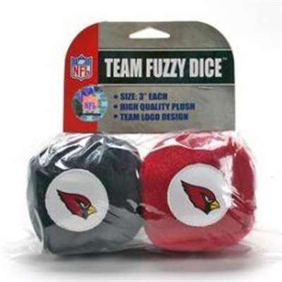Arizona Cardinals Fuzzy Dice by Fremont Die - 1