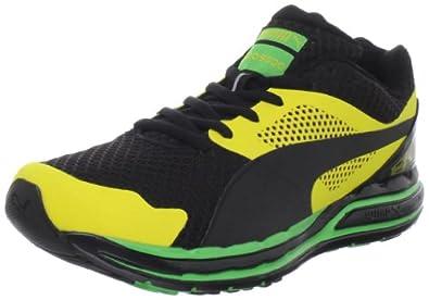Puma Men's Faas 800 Jam Running Shoe,Black/Buttercup/Classic Green,4 D US