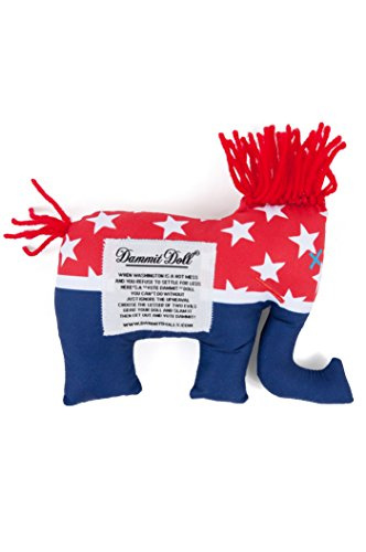 Dammit Doll - Vote Dammit Doll - ELE - Red, White & Blue - Stress Relief - Gag Gift - Political Party