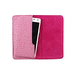 DooDa PU Leather Pouch Case Cover With Card / ID Slots For Spice Stellar (MI-425)
