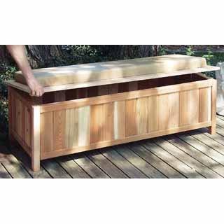 Garden Storage Bench High