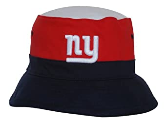 New York Giants Mitchell & Ness Bucket Hat - Red Navy White by Mitchell & Ness