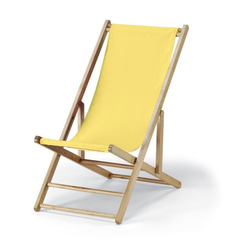 Telescope Casual Cabana Beach Folding Chair, Yellow