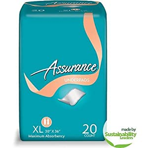 Assurance Protective Underpads, Extra Large Adult Diapers 40 ct by Assurance