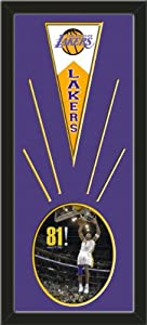 Los Angeles Lakers Wool Felt Mini Pennant & Kobe Bryant Photo - Framed With Team... by Art and More, Davenport, IA