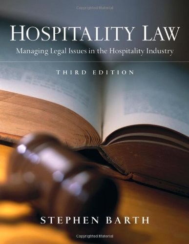 Hospitality Law: Managing Legal Issues In The Hospitality Industry front-488478
