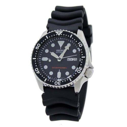 SEIKO Black Men's model SKX007KC overseas reimportation watch