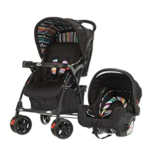 Obaby Monty Travel System (Black Stripe)