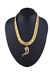 Glory Jewels Yellow Gold Plated Antique Mens Chain With Pendant