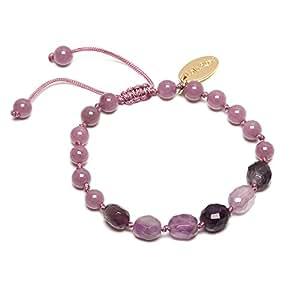 Lola Rose Isobel Bracelet in a Combination of Cape Amethyst and Elderberry Quartzite of 16-23cm