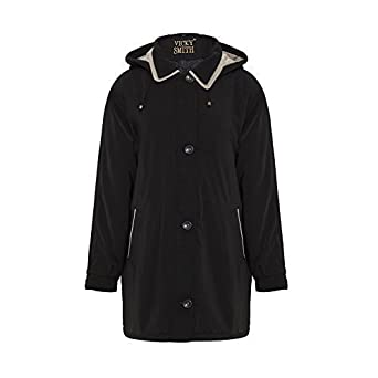 Size double collared anorak hooded parka coat amazon co uk clothing