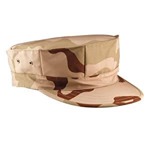 Tri-Color Desert Camouflage Marine Corps Fatigue Cap 5639 Size Small