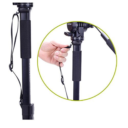 Yunteng VCT-288 Photography Tripod Monopod WIth Fluid Pan Head Quick Release Plate And Unipod Holder for Canon Nikon DSLR Cameras Review