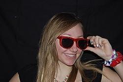 Rainbow Vision Diffraction Lenses Sunglasses Transparent Red