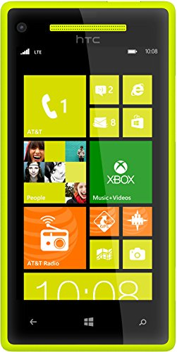 HTC 8X 8GB Unlocked GSM 4G LTE Dual-Core Windows 8 Smartphone - Lime Yellow