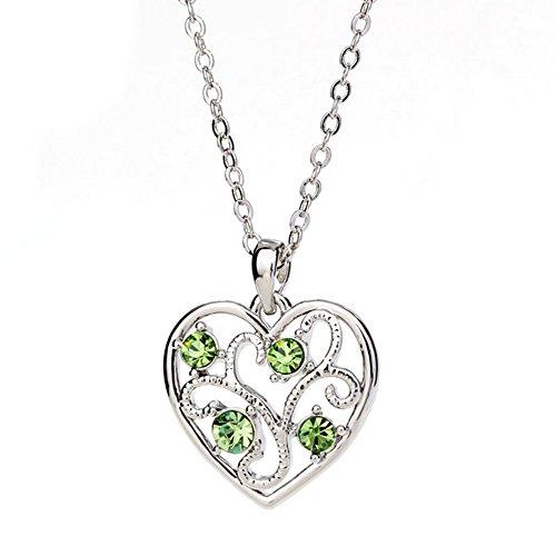 Winter's Secret Fashion Color Hollow Love Heart Tree Shape Cross Chain Silver Pendant Necklace (Lock Pick Wet compare prices)