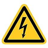 Warnung vor gefährlicher elektrischer Spannung Folie selbstklebend 100 mm