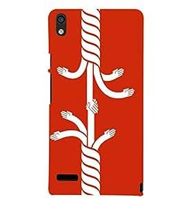 TOUCHNER (TN) Relation Back Case Cover for Huawei Acend P6::Huawei P6::Huawei Acend P6 Dual