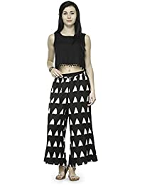 Varanga Black And White Printed Cotton Cambric Straight Palazzo KF-VARSS17125-S_