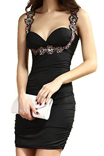 Vshop-2000 Elegant Womens Above Knees Little Black Dress Collection