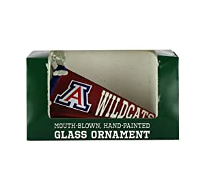 NCAA Arizona Wildcats Glass Pennant Ornament