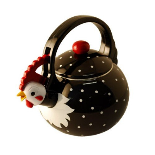 Supreme Housewares Whistling Tea Kettle, Rooster (Enamel Tea Kettle Whistling compare prices)