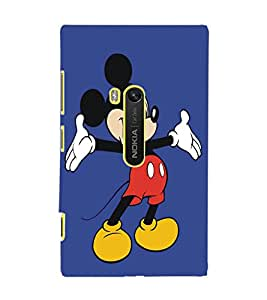 PrintDhaba Mickey Mouse D-5404 Back Case Cover for NOKIA LUMIA 920 (Multi-Coloured)