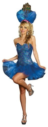 Dreamgirl Women's Peacock Envy Costume