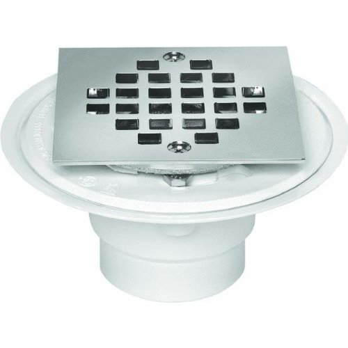 Oatey 42237 Square Tile Shower Drain With Strainer