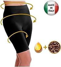 Pantaloncito corto anti-celulítico, vaina con funda interna sin costuras con la cafeína + vitamina E