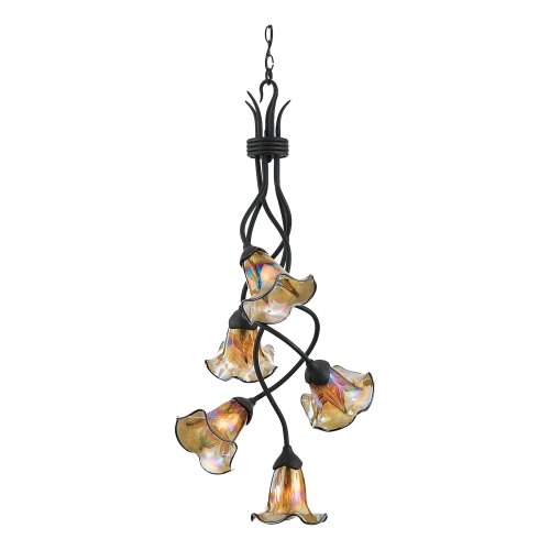 Quoizel BLFF5105IB Bellissimo 40-1/2-Inch One Tier Chandelier with Five Downlights, Imperial Bronze Finish